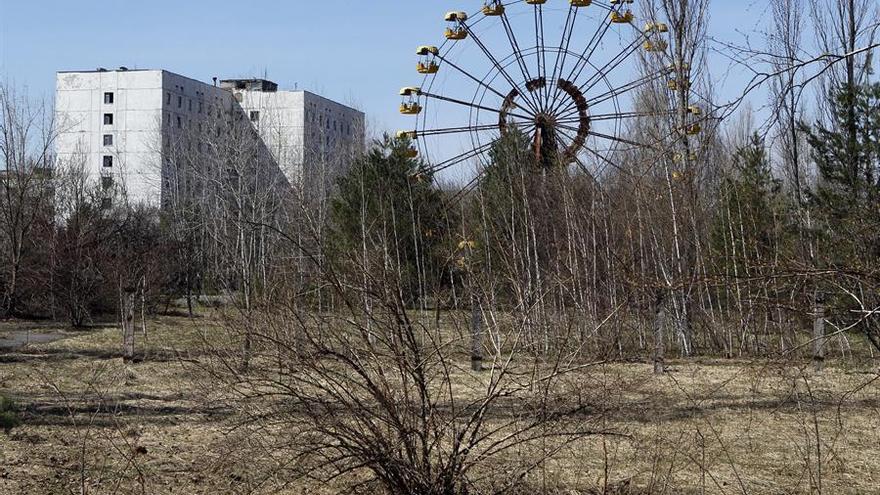 Vista de la ciudad abandonada de Pripiat (Ucrania)
