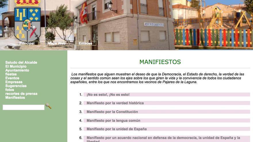 """La web municipal del alcalde del PP que llamó """"mamporrero"""" al presidente del Senado enlaza a ultraderechistas"""