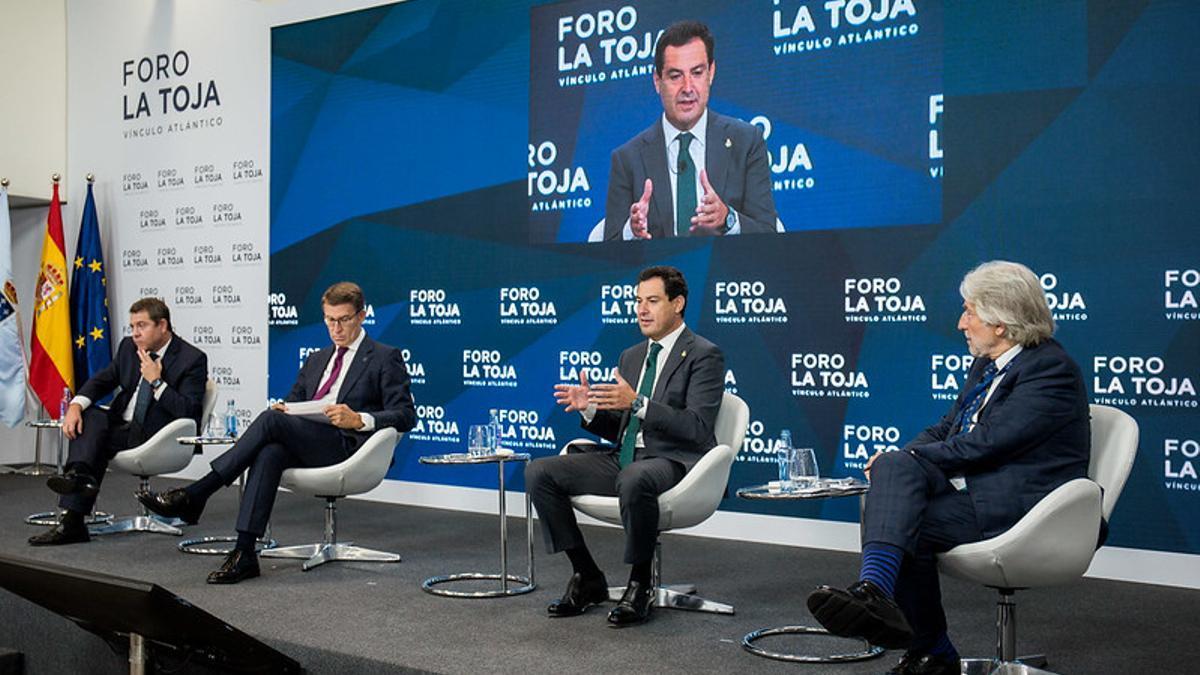 Feijóo, Moreno y García-Page en el Foro de la Toja
