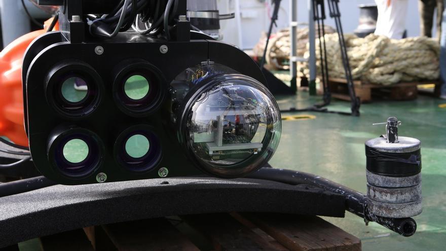 LIDAR a bordo del buque 'Alliance' (ALEJANDRO RAMOS)