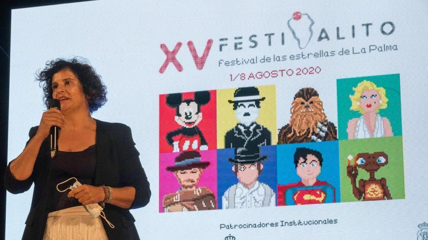 """Jovita Monterrey: """"La Palma ha sido un modelo para España de promoción la cultura segura con el Festivalito"""""""