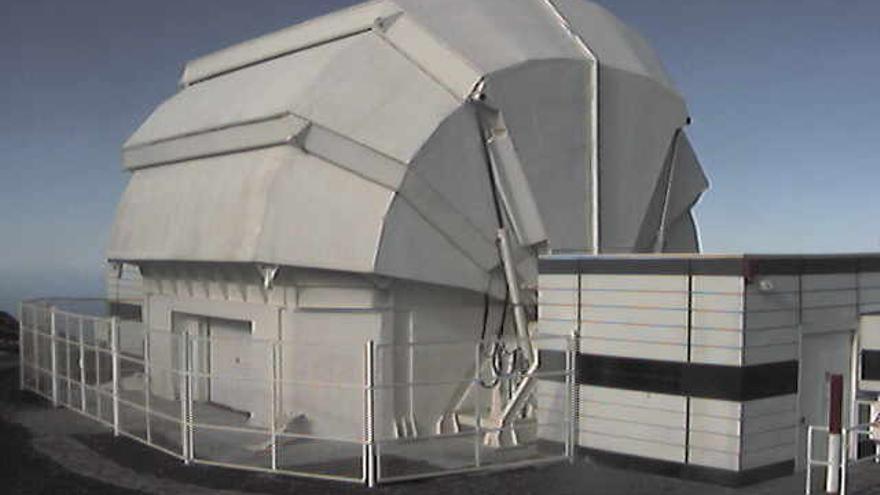 Imagen de Telescopio Liverpool, este miércoles, captada de su webcam.