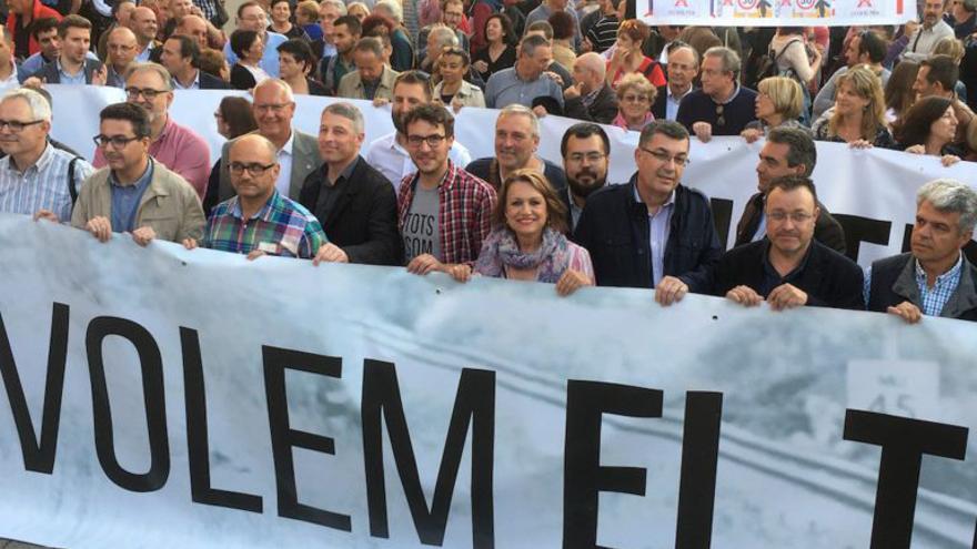 La manifestación celebrada el pasado año en Dénia para exigir el tren