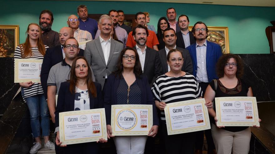 Premiados en el Concurso Insular de Quesos 2017 de Pinolere (La Orotava)