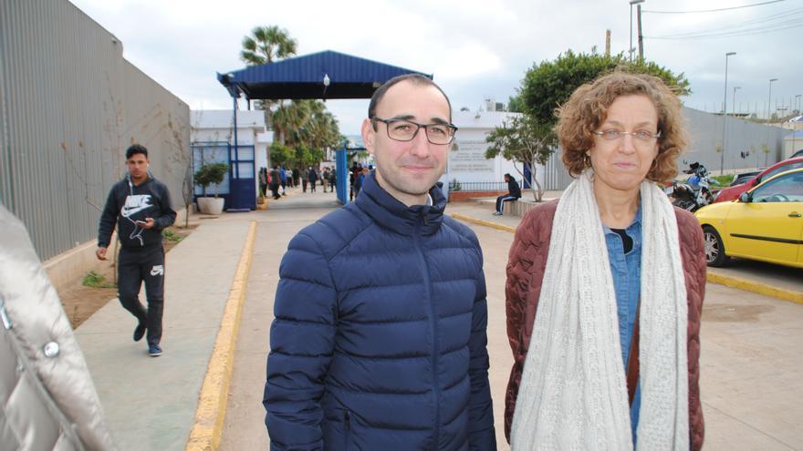 David Serrada en su visita a Melilla.