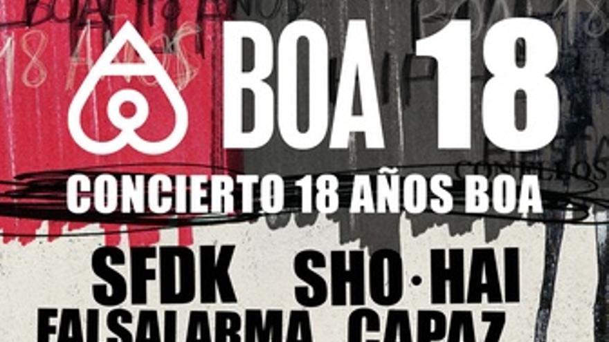 Cartel Del Concierto BOA 18