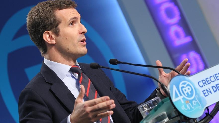 """Casado defiende que el PP """"está rescatando a España de una crisis territorial como nunca había vivido"""""""