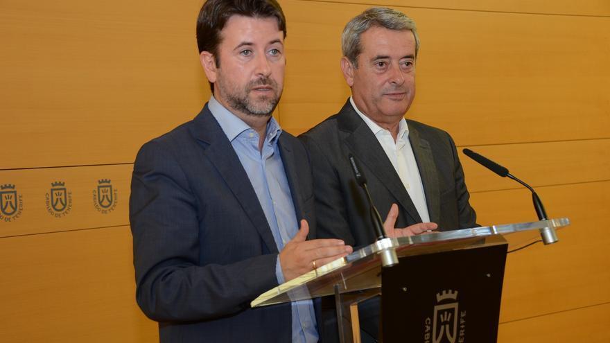 Carlos Alonso y Aurelio Abreu durante la rueda de prensa.