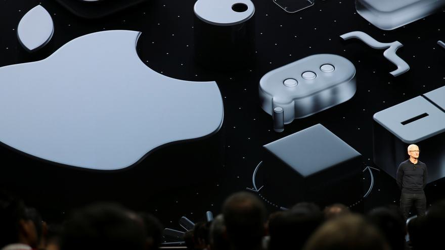El CEO de Apple, Tim Cook, durante la Conferencia de Desarrolladores de Apple, este lunes en California.