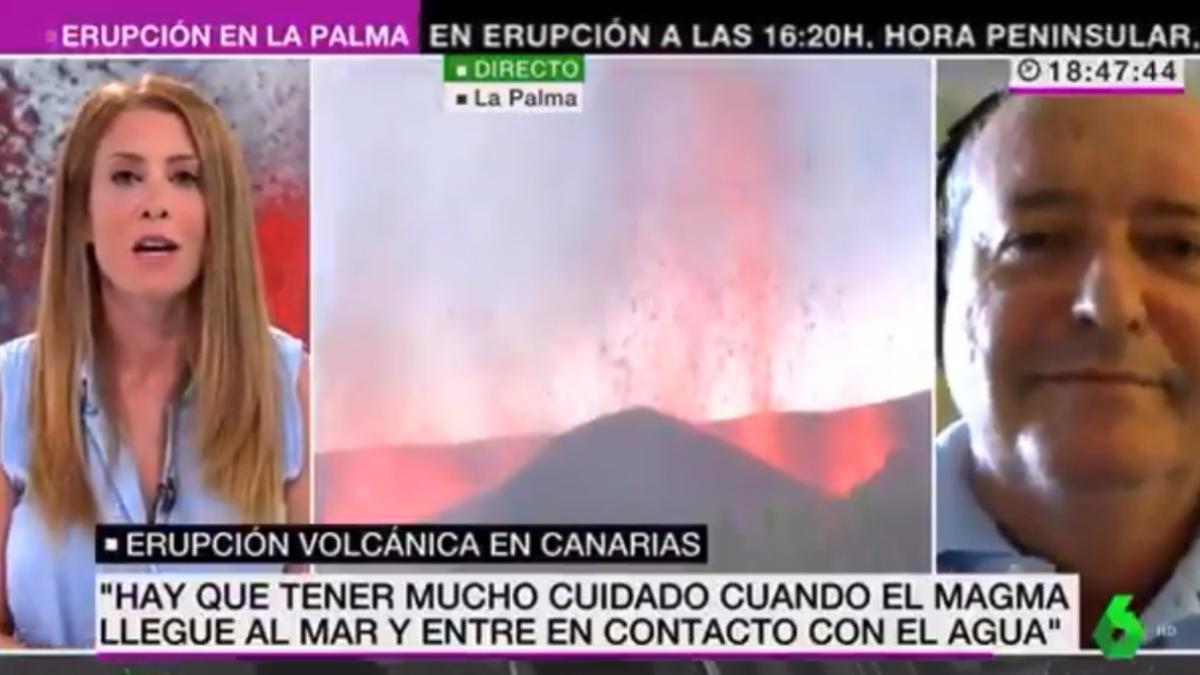 """El vídeo completo que demuestra que Isabel Zubiaurre no preguntó en laSexta  sobre cómo """"apagar el volcán"""" - Vertele"""