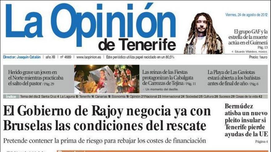 De las portadas del día (24/08/2012) #5