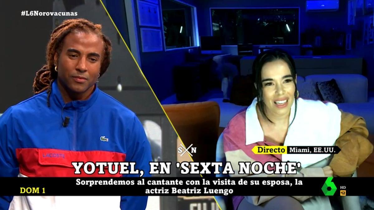 Yotuel Romero y Beatriz Luengo en 'laSexta Noche'