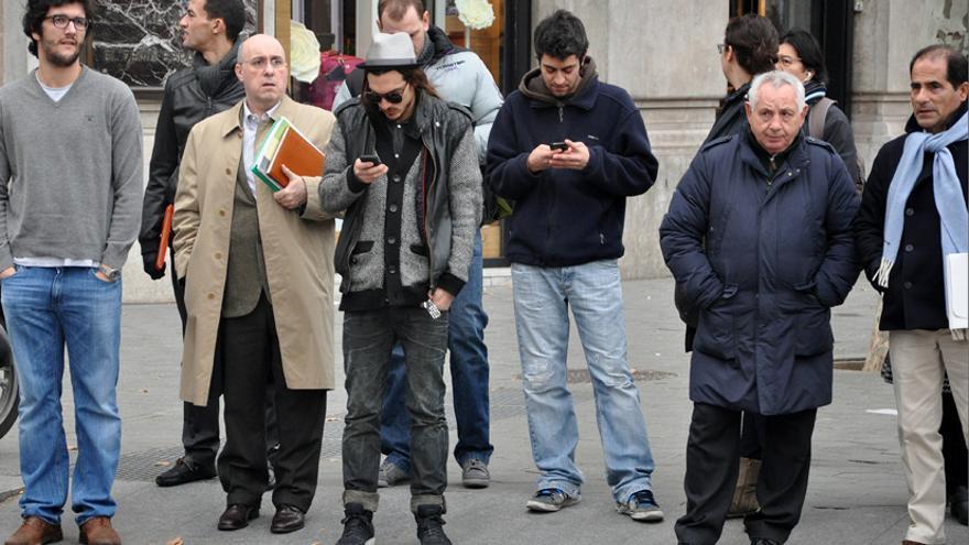 Hombres en la calle