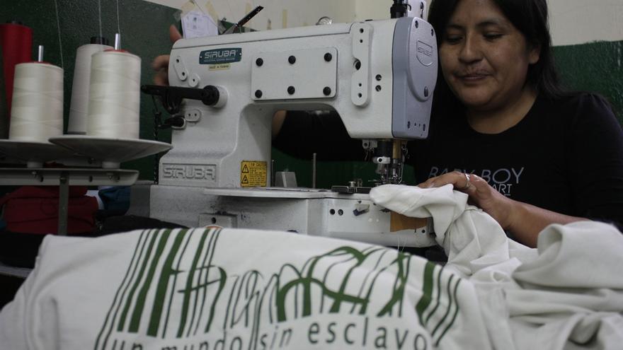 Imagen de una campaña contra el trabajo esclavo de Fundación La Alameda. /Fund. La Alameda