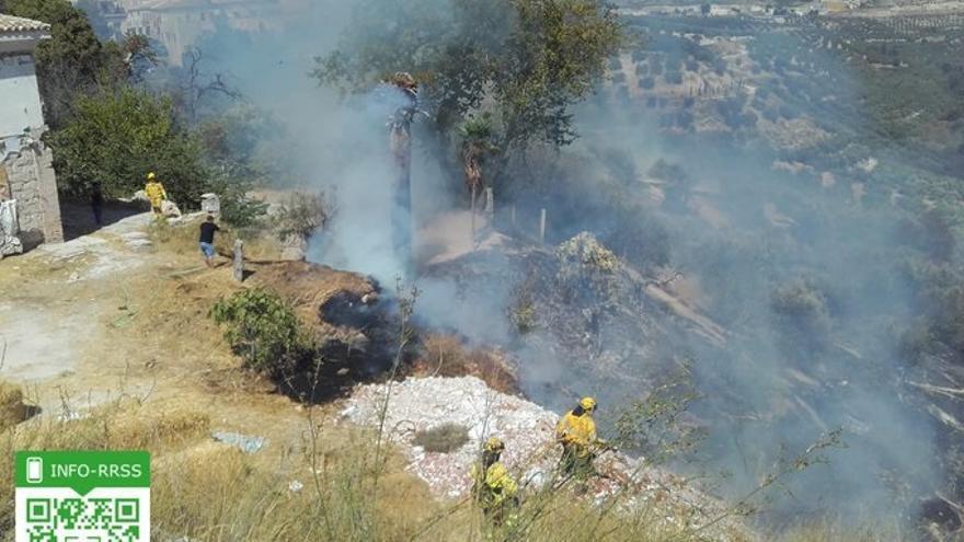 Estabilizado el incendio en Estepona y la Junta desactiva el nivel 1 del Plan de Emergencia