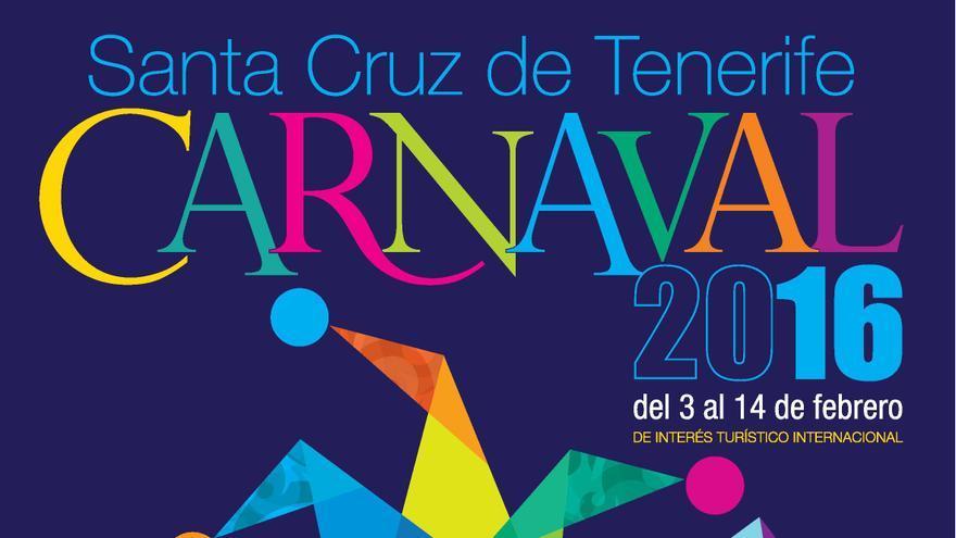 Cartel del Carnaval 2016 de Santa Cruz de Tenerife, obra de Javier Torres Franquis