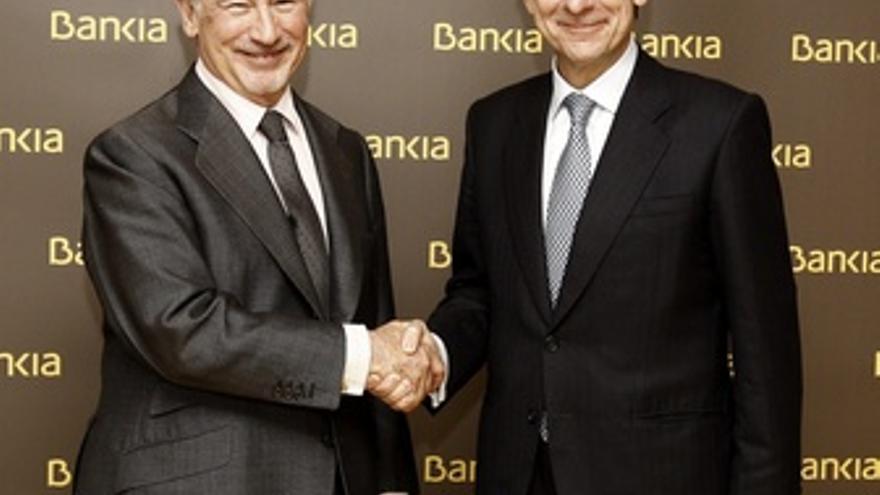 Rato da el relevo a Goirigolzarri como presidente de Bankia. (EUROPA PRESS)