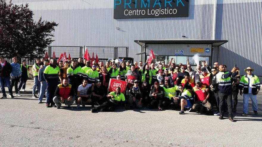 Huelga en la plataforma logística de DHL-Primark de Torija (Guadalajara).