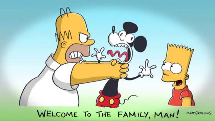La viñeta de 'Los Simpson' que twitteó su producto, Al Jean, después de que Disney comprase Fox