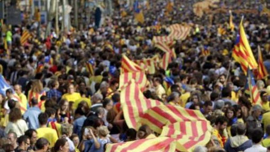 Concentración de independentistas catalanes