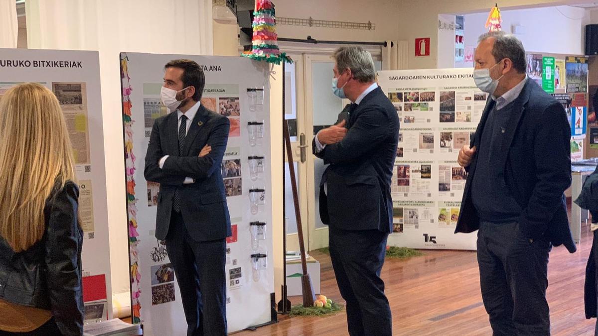 Javier Hurtado, este miércoles, en la celebración del decimoquinto aniversario de Sagardoetxea