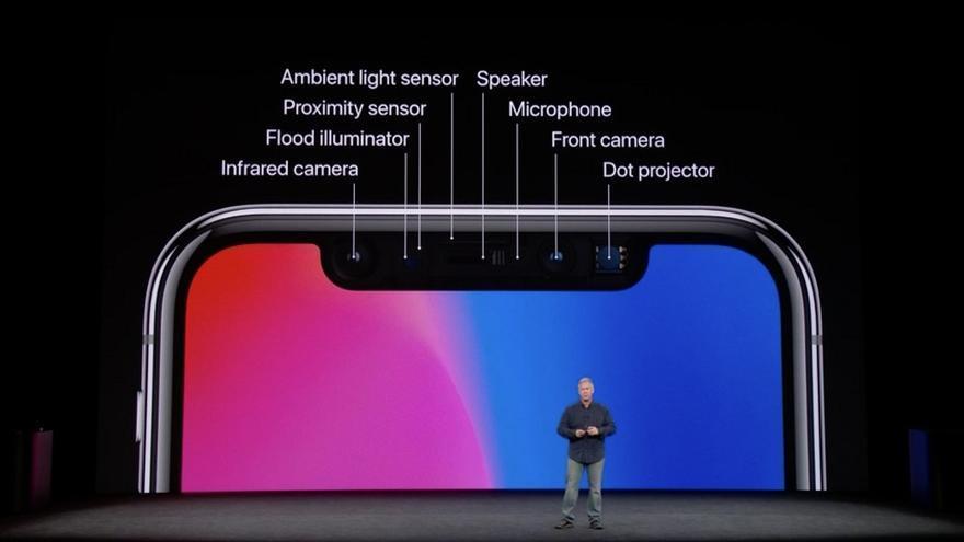 Los sensores del iPhone X