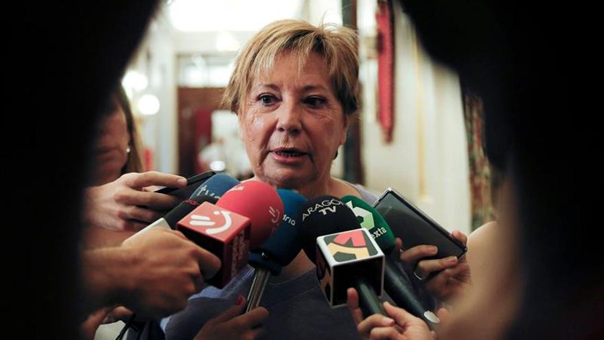 La diputada del PP Celia Villalobos, presidenta de la comisión parlamentaria del Pacto de Toledo.
