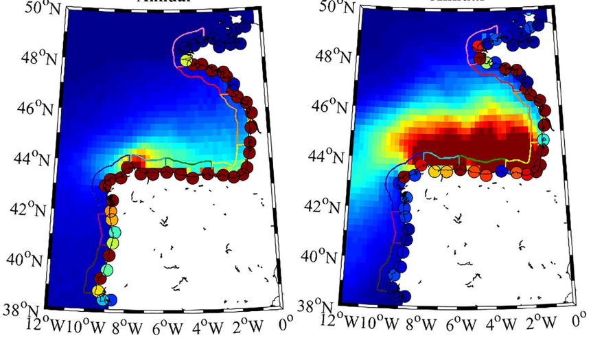Las corrientes y el viento del golfo de Bizkaia atrapan a más del 85% de los plásticos que entran en esta zona