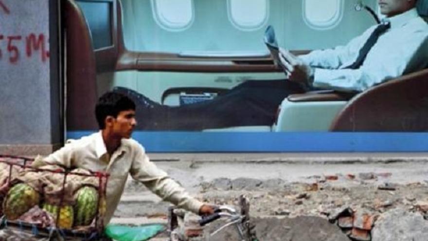 Desigualdad en las sociedades latinoamericanas. Imagen de Oxfam.