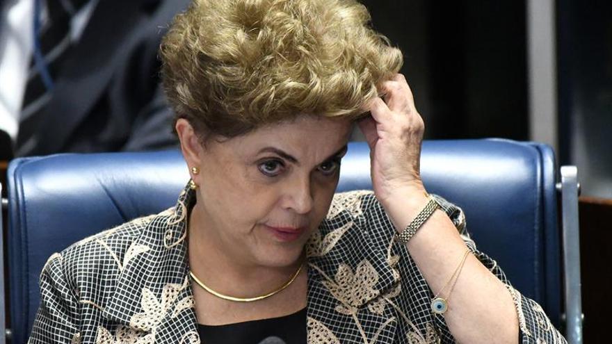 Rousseff, durante la sesión del senado.