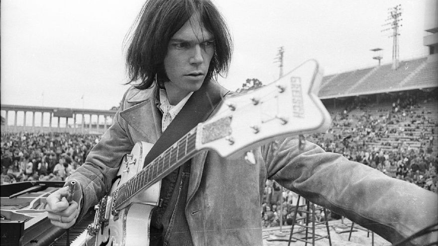 Un joven Neil Young