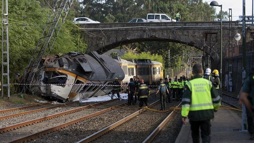 Cuatro muertos y 49 heridos en el accidente ferroviario de O Porriño