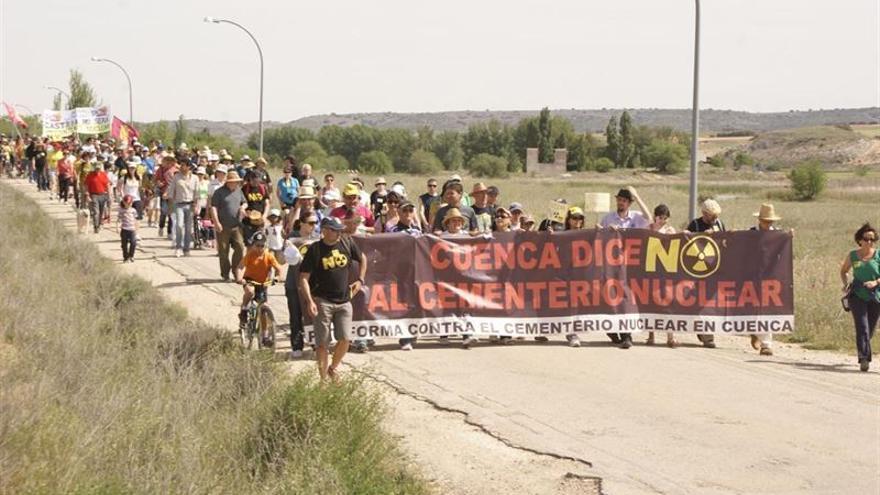 Marcha contra el ATC en Villar de Cañas (Cuenca) / Foto: Europa Press