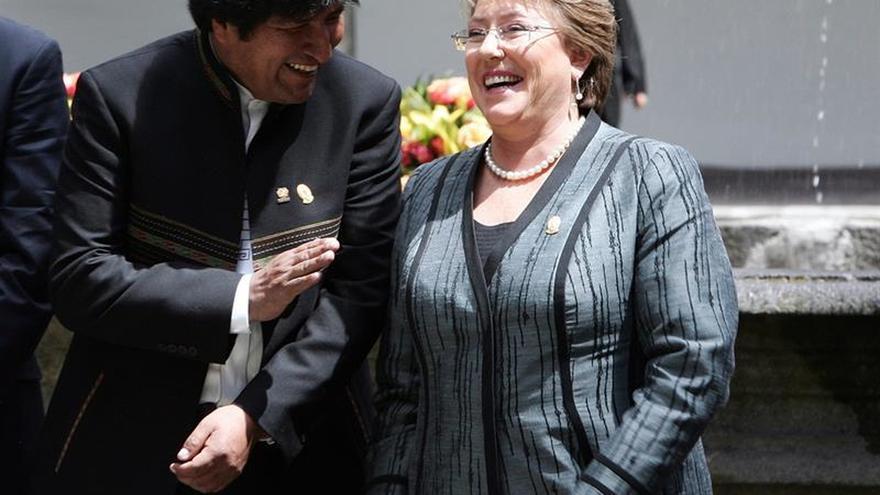 """Evo Morales invita a Michelle Bachelet a visitar """"los manantiales del Silala"""""""