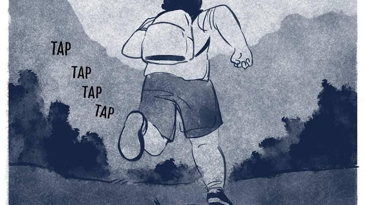 """Una de las viñetas dibujadas por Susanna Martin para el cómic """"Irse o morir"""""""