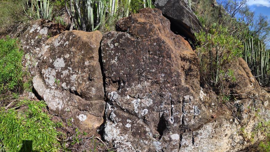 Conjunto de grabados rupestres en Barranco Seco (Puntallana)