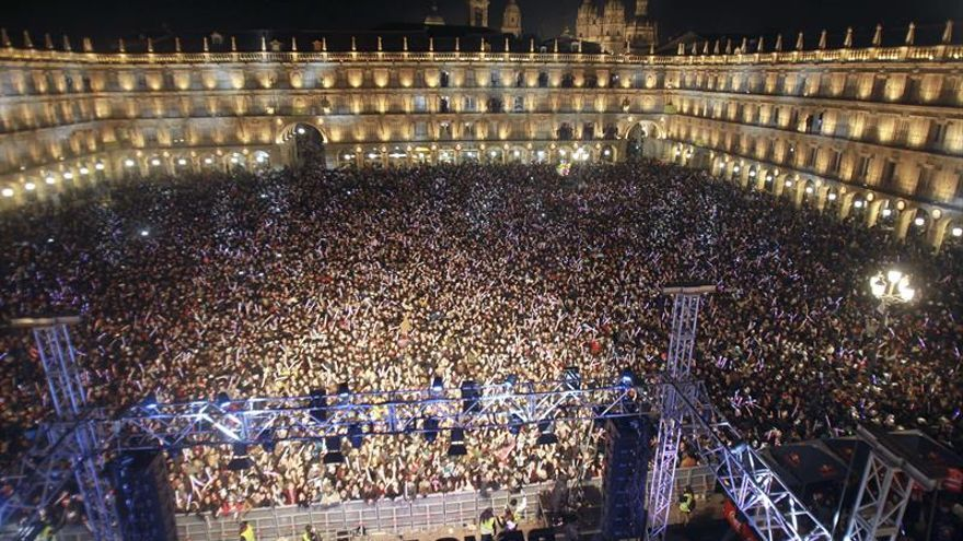 La Nochevieja Universitaria de Salamanca propone un reto del maniquí masivo