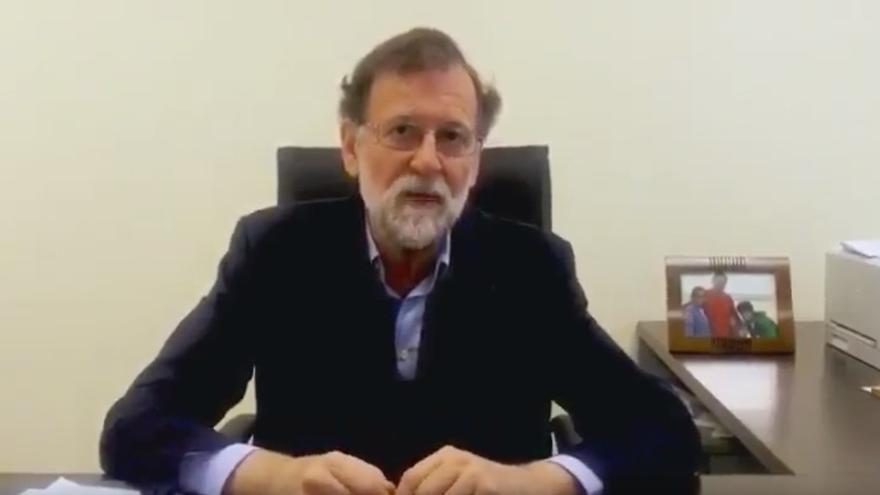Imagen del vídeo en el que Rajoy pide el voto para los candidatos al Senado por Gran Canaria
