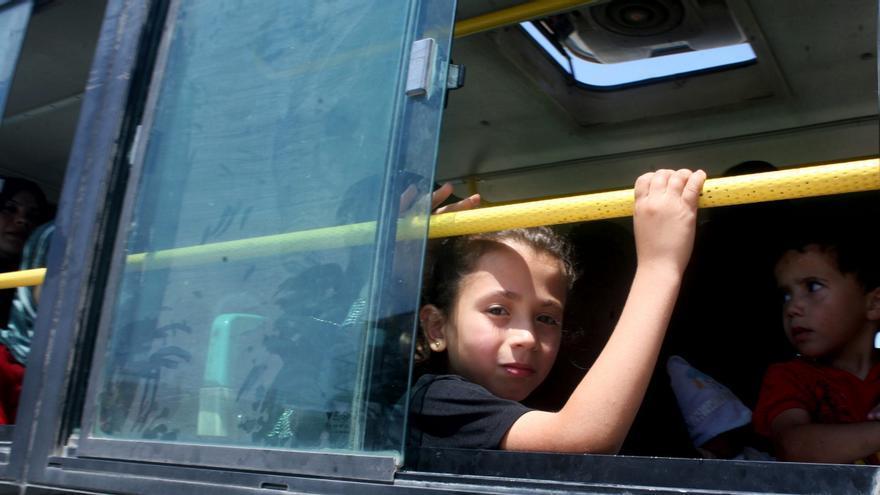 Según UNICEF, la mitad del 1.200.000 sirios desplazados en el país son menores