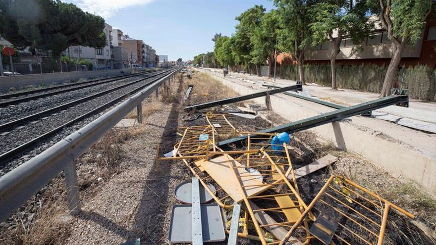 Quinto ataque contra las máquinas de las obras de AVE en la ciudad de Murcia