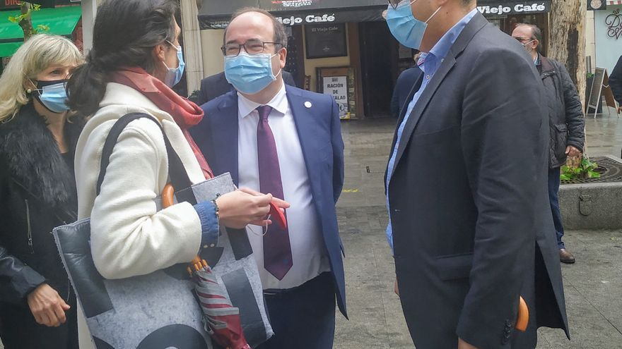 El ministro de Política Territorial, Miquel Iceta, en un acto en Leganés