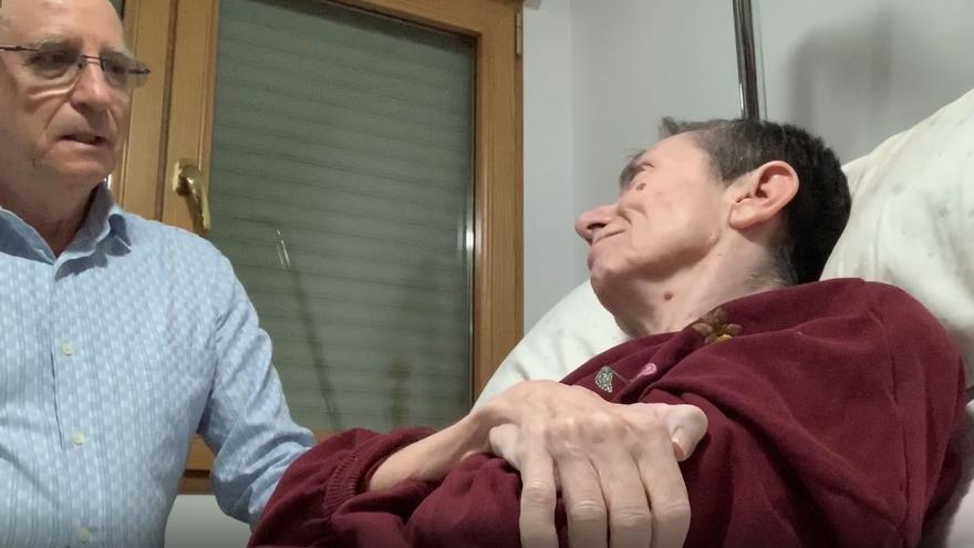 Ángel y María José, en el vídeo que han grabado reivindicando su voluntad de morir.