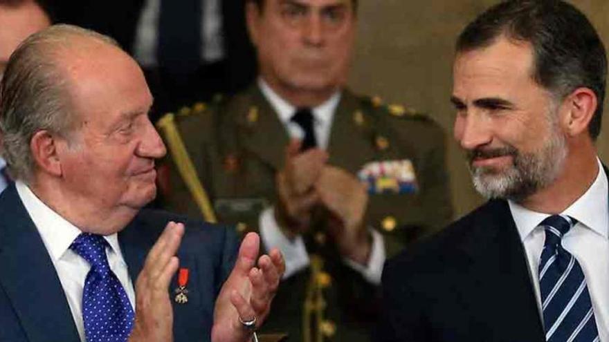 Juan Carlos y Felipe de Borbón