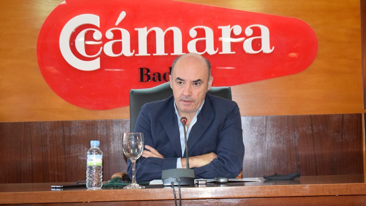 El presidente de la Cámara de Comercio de Badajoz, Mariano García