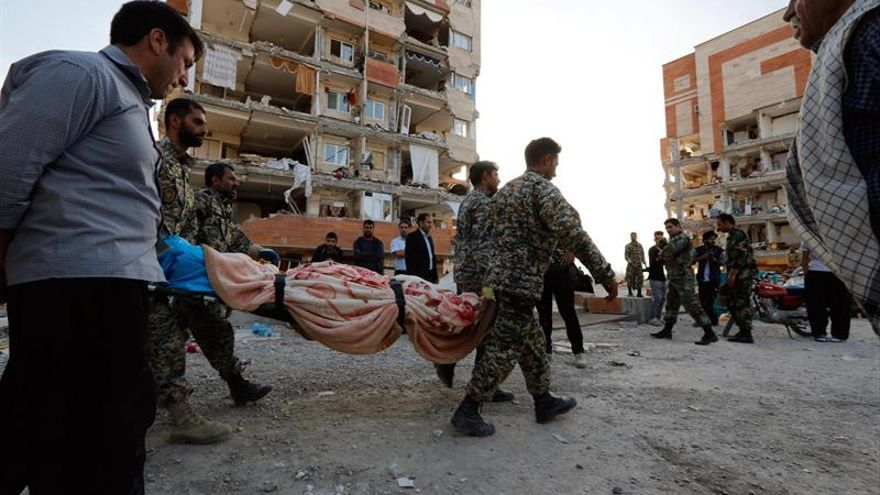 Irán decreta un día de luto nacional por las víctimas del terremoto