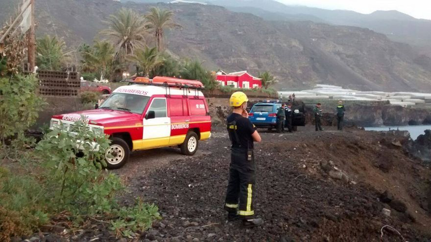 En la imagen, dispositivo de búsqueda. Foto: BOMBEROS LA PALMA