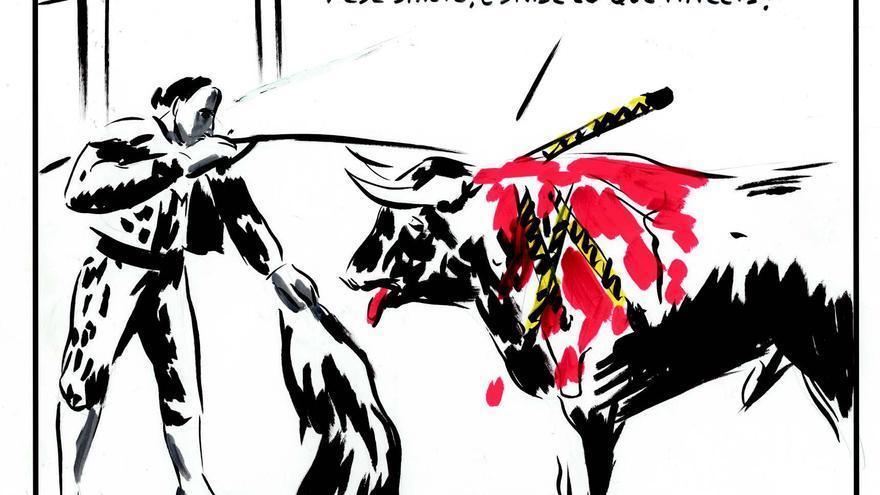Ilustración de El Roto para 'AntiTauromaquia'