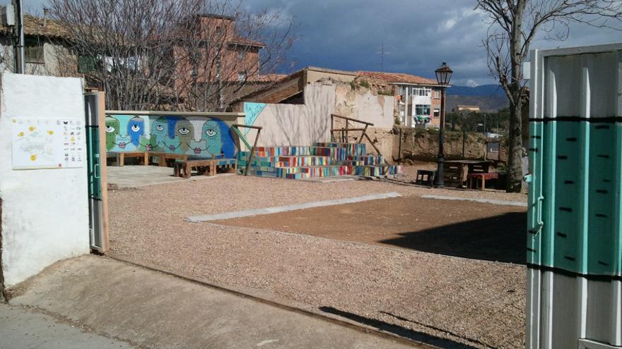 El solar de la call Desengaño el día de su apertura. / Re-Gen Huesca.