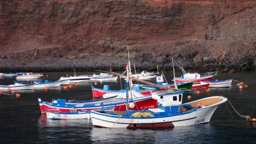 Barco de pesca en La Gomera