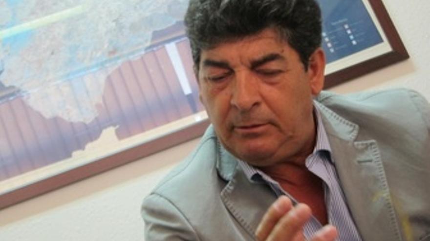 Diego Valderas, durante la entrevista con Europa Press